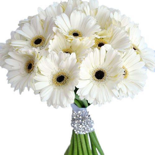 """Букет """"Белый блеск"""" ромашковые хризантемы"""