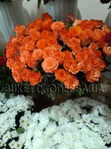 букет оранжевых роз в Одессе фото