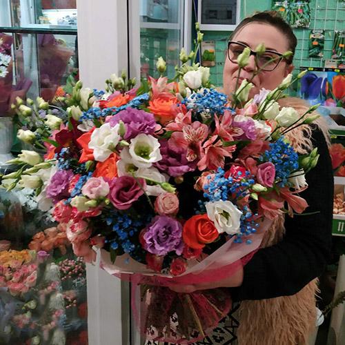 """Букет """"Приятный"""" микс цветов фото"""