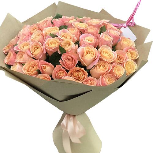 """51 роза """"Мисс Пигги"""" фото"""